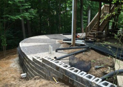 southern-greenscapes-tega-cay-retaining-wall-before2